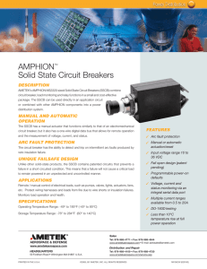 AMPHIONTM Solid State Circuit Breakers