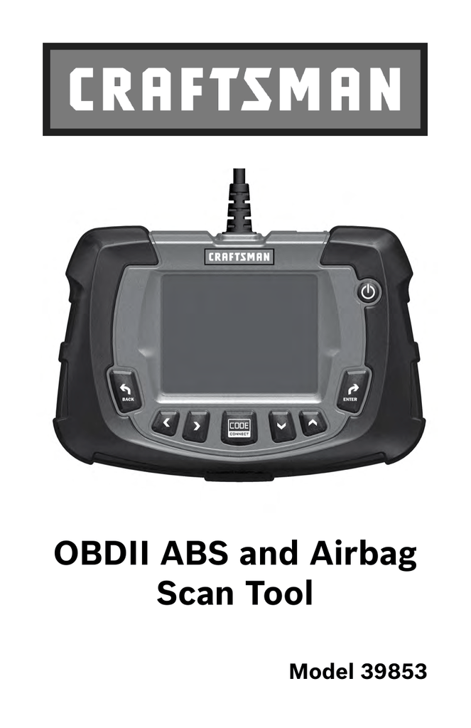 OBDII ABS and Airbag Scan Tool