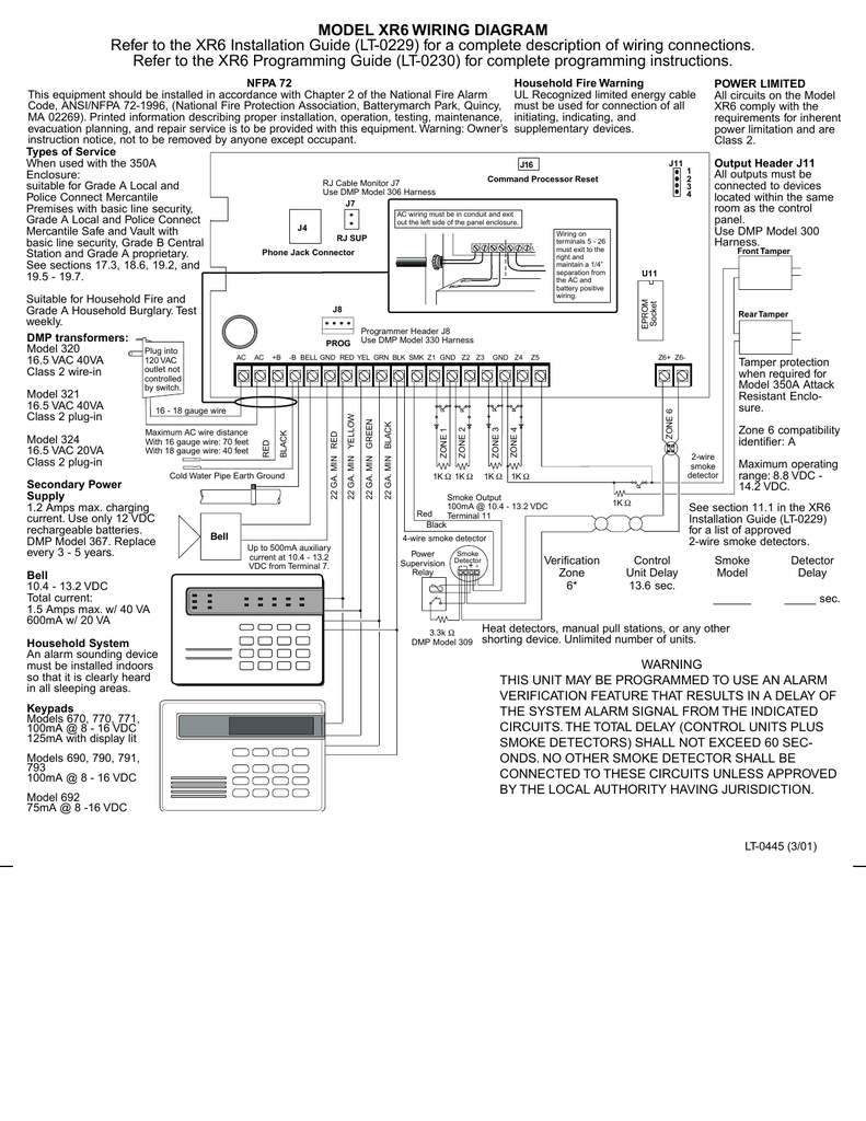 Model Xr6 Wiring Diagram Refer To The Xr6 Installation Guide