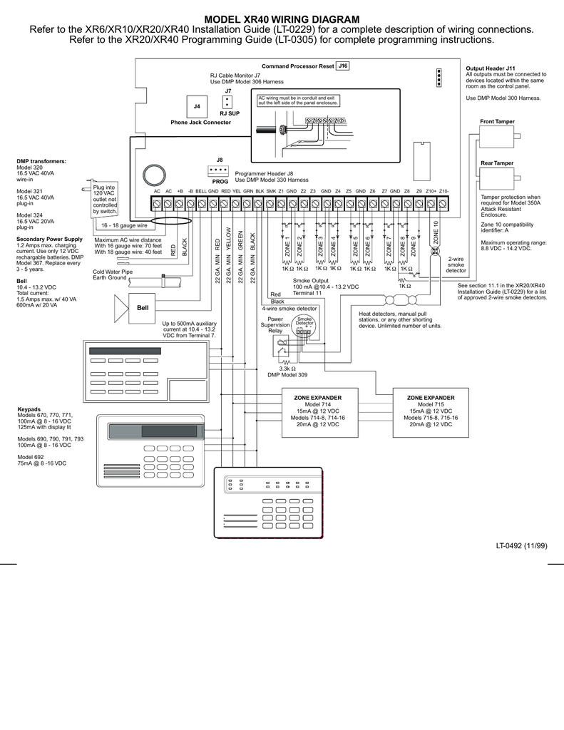 Model Xr40 Wiring Diagram Refer To The Xr6  Xr10  Xr20
