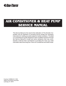 10-19-00 Air Conditioner Heat Pump Service Manual