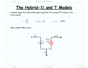 The Hybrid Pi and T Models lecture