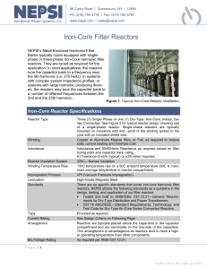 Iron Core Filter Reactors - Northeast Power Systems, Inc.