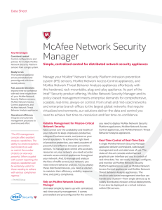 McAfee Network Security Manager Appliance