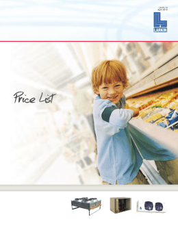 Price List - Heatcraft Worldwide Refrigeration