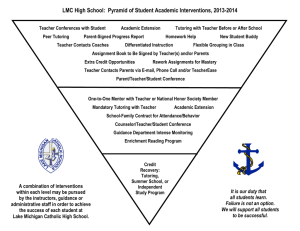 LMC High School: Pyramid of Student Academic Interventions, 2013