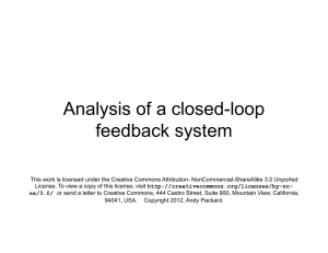 Analysis of a closed-loop feedback system