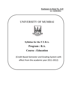 4.43 Education - University of Mumbai