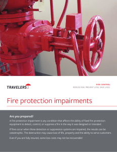 Fire protection impairments