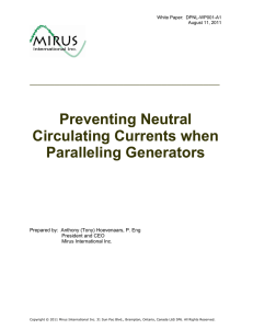 Preventing Neutral Circulating Currents when Paralleling Generators