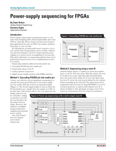 Power-supply sequencing for FPGAs