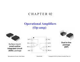 C H A P T E R  02 Operational Amplifiers (Op-amp)