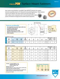 Unified Pem Self-Clinching Blind Fasteners Types B BS-632-2 BS