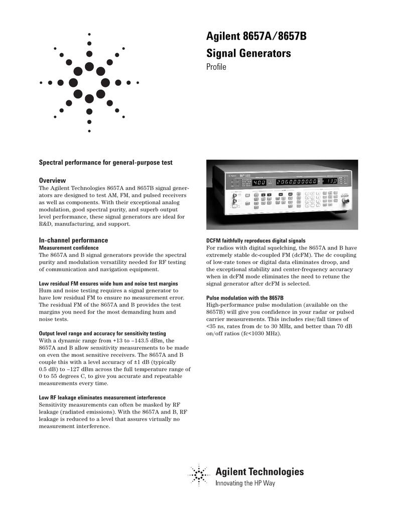 Agilent 8657A/8657B Signal Generators