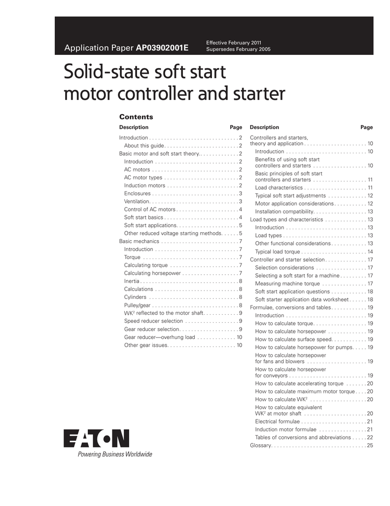 Solid-state soft start motor controller and starter