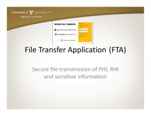 File Transfer Application (FTA)