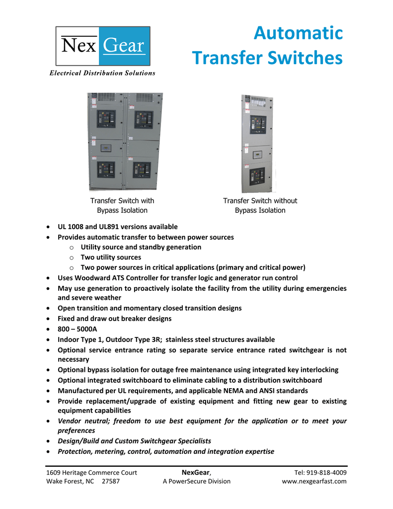 Automatic Transfer Switches Details About Switch Ats Controller Build Your
