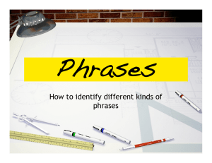 How to identify different kinds of phrases