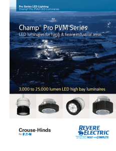 Crouse Hinds champ-pro-pvm-led-brochure