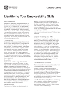 Identifying Your Employability Skills