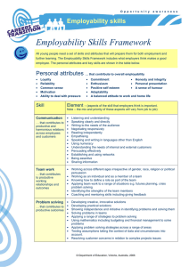 Employability Skills Framework - Department of Education and