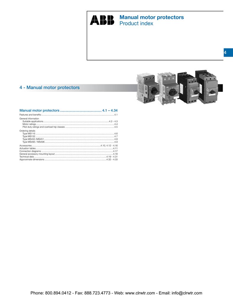 Motor Starter Overload Symbol Abb Wiring Diagram Manual Starters Catalog Studylib Net Aeg Protectors Protector