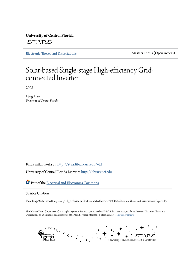 Solar Based Single Stage High Efficiency Grid Connected Speed Data Switch Delabs Schematics Electronic Circuit