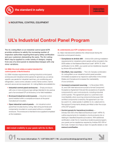 UL`s Industrial Control Panel Program
