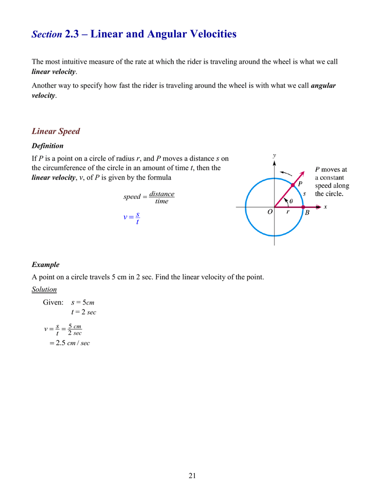 worksheet Angular Velocity Worksheet angular velocity
