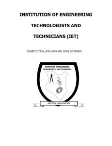 institution of engineering technologists and technicians (iet)