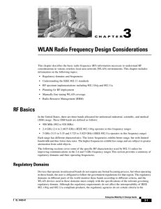 WLAN Radio Frequency Design Considerations