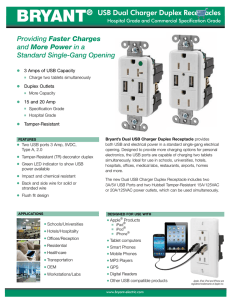 BRYANT® USB Dual Charger Duplex Receptacles