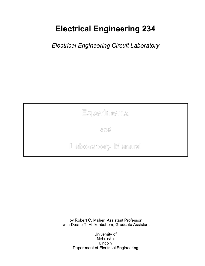 Eengr 234 Electrical Circuits Lab Ii Wiring Manual