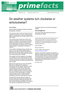 Do weather systems turn clockwise or anticlockwise?