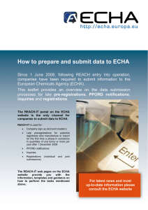 How to prepare and submit data to ECHA