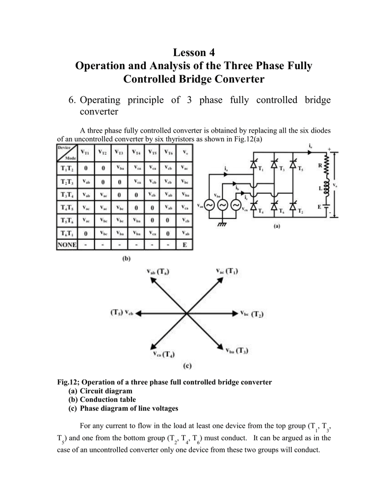 Lesson 13 Operation Of A 3phase Fullycontrolled Rectifier
