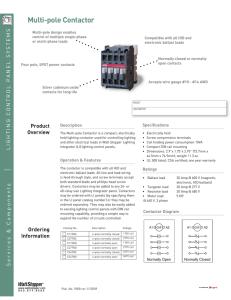 Lighting Contactors - GE Industrial Solutions on