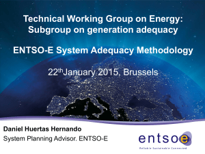 ENTSO-E System Adequacy Methodology