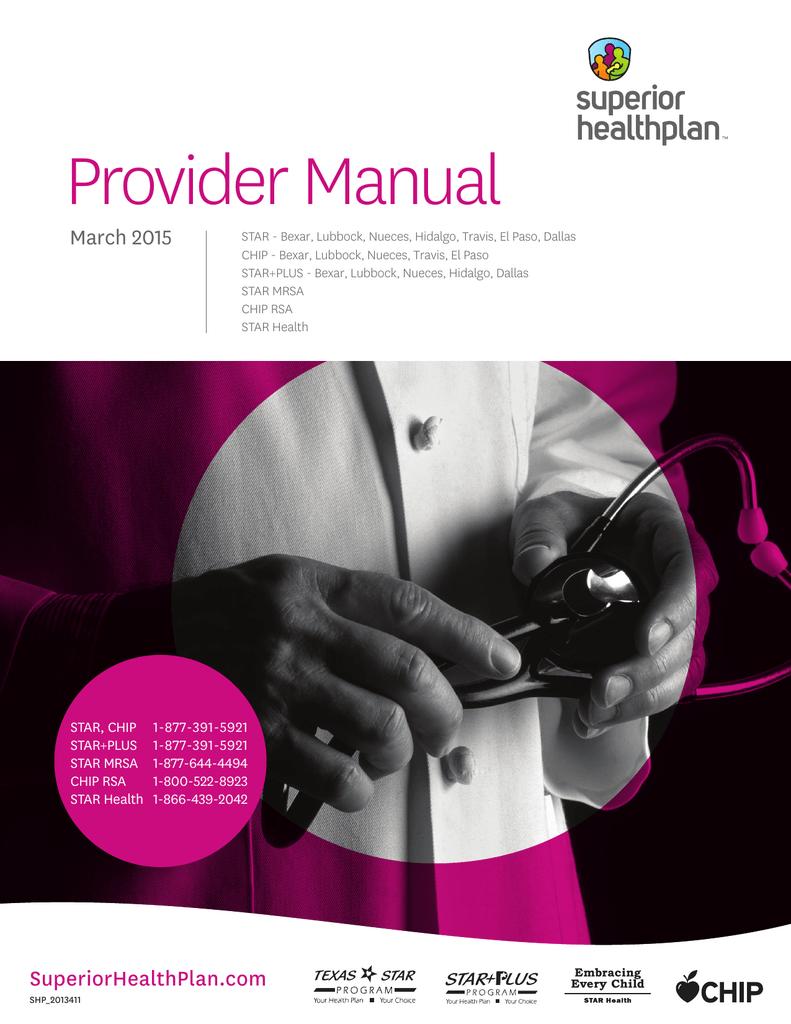 Provider Manual Superior Healthplan