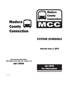 MCC Schedule - County of Madera