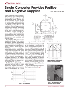 May 2005 - Single Converter Provides Positive and Negative Supplies