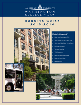 Housing Guide 2013-2014 - American University Washington