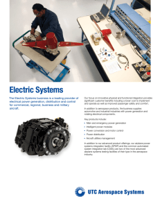 Electric Systems - UTC Aerospace Systems
