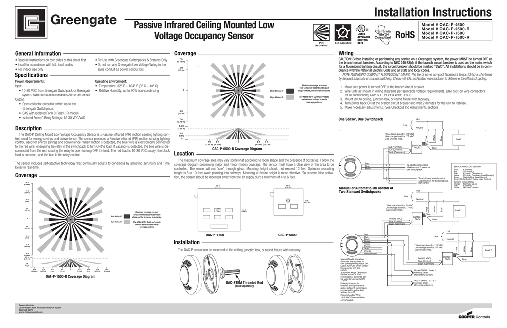 Ceiling Mounted Vacancy Sensor Wiring Diagram | Review Home Co