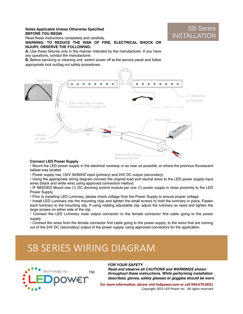 [DIAGRAM_3US]  sb series wiring diagram | Curving Led Wiring Diagram For Use |  | Studylib