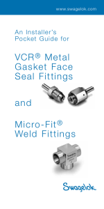 VCR Metal Gasket Face Seal Fittings Weld Fittings