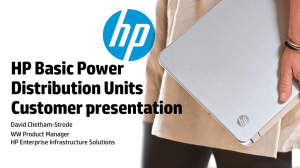HP Basic Power Distribution Units