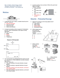 Motion Kinetic – Potential Energy