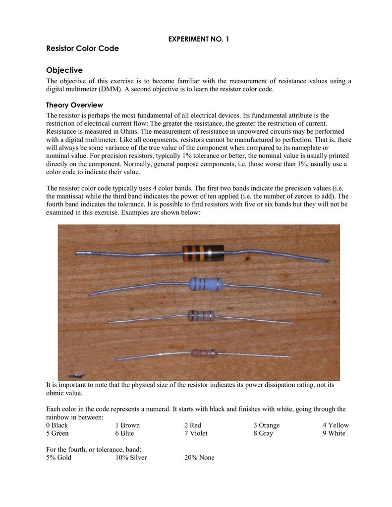 3 Resistor Color Code