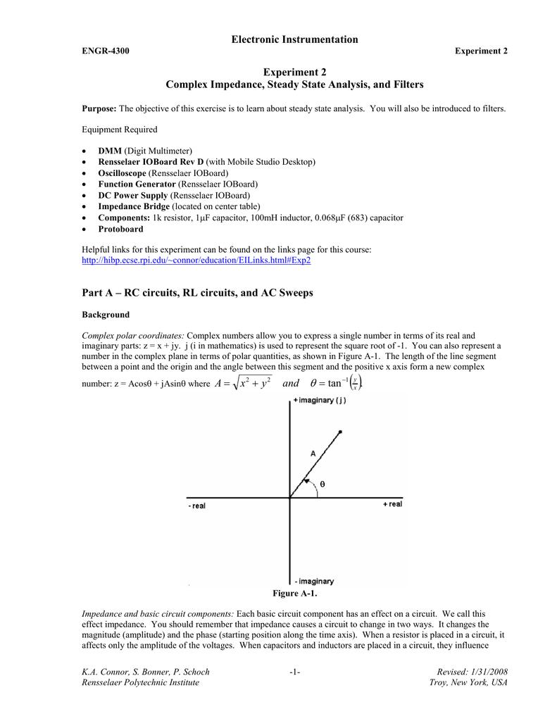 Electronic Instrumentation Experiment 2 Complex Impedance
